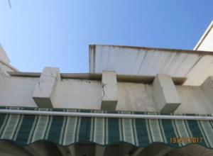 התנתקות של טיח ובטון