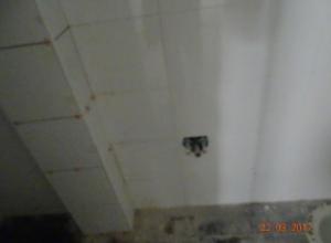 בדק בית - חוות דעת לדוגמא - צינור ביוב בולט לתא מקלחת