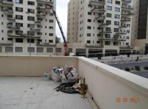 בדק בית - חוות דעת לדוגמא - פסולת בניה במרפסת